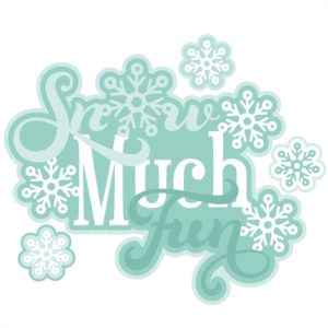 Snow Much Fun Scrapbook Title SVG cutting file winter svg cut file winter svg cuts free svgs