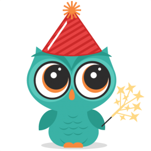 New Year's Eve Owl SVG cutting file new years owl svg cut file owl cut file for scrapbooks