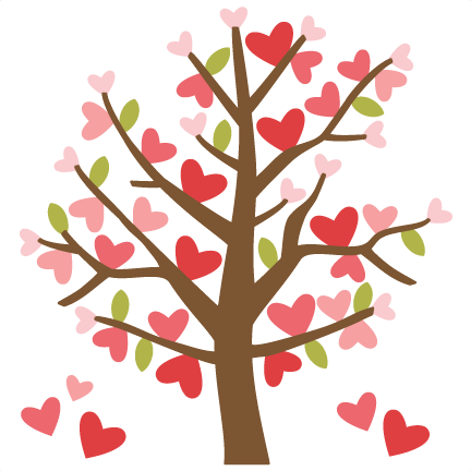 Valentine Tree Svg Cutting Files Valentines Day Clipart Cute Clipart