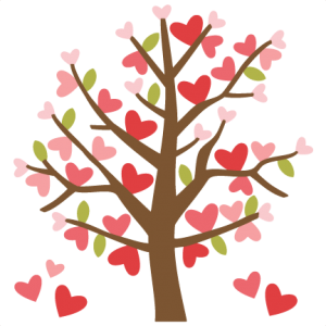 Valentine Tree SVG cutting files valentines day clipart cute clipart free svg cut files