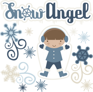 Snow Angel Boy SVG cutting files snow svg cut file winter svg cut files