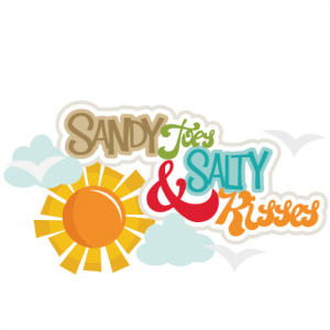 Sandy Toes & Salty Kisses SVG cutting files beach svg scrapbook title svg scrapbook title