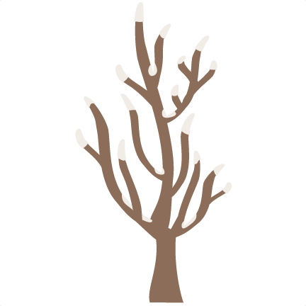 Winter Tree SVG Cutting Files Svg Cuts Border Clipart Free