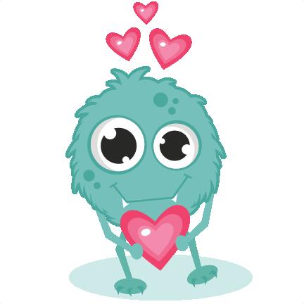 cartoon Monster In Love Wallpaper : Monster In Love SVG cutting files monster svg cut cute monster clipart valentines svg cuts