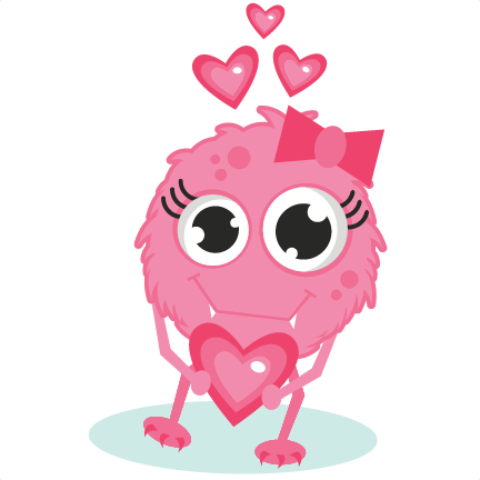 cartoon Monster In Love Wallpaper : Girl Monster In Love SVG cutting files valentines day svg cut files free svg cuts cute svg files