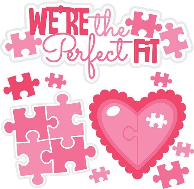 Were The Perfect Fit SVG Cutting Files Valentines Day Svg
