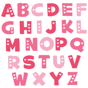 Valentine Alphabet SVG cut files valentine alphabet svg cuts free svg files free svg cuts