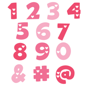 Valentine Numbers SVG cut files valentine alphabet svg cuts free svg files free svg cuts