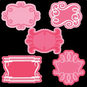 Fancy Frames SVG cutting files frame svg cuts cute svgs cute clipart valentines svg cut files
