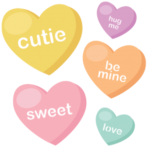 Candy Hearts SVG cutting files valentine svg files valentines svg cuts cute svg files free svgs