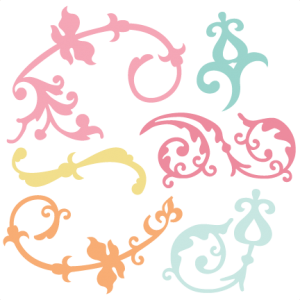 Flourishes SVG flourish svg file svg files for scrapbooking cute clipart fall svg cut files