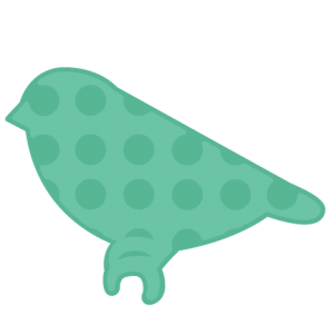 Polka Dot Bird SVG cutting file for scrapbooking bird svg cut file bird scut file