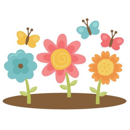 Spring Flowers With Butterflies Svg Cutting Files Spring Cutting
