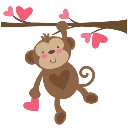 Valentine Monkey SVG file for scrapbooking cardmaking ...