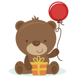 Birthday Bear SVG cut file birthday svg files birthday svg cutting files free svg cuts