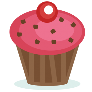 Pink Cupcake SVG cutting file svg cut files birthday clipart cute clipart cute cupcake svg cut