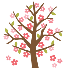 Spring Tree SVG cutting file for scrapbooking