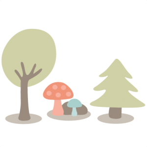 Woodland Scene SVG cutting files tree svg cut files mushroom svg cut files