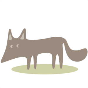 Woodland Wolf SVG cutting files tree svg cut files mushroom svg cut files