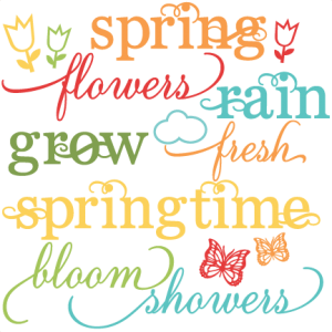 Spring Word Set SVG cutting files for scrapboking tulip svg cut files free svgs spring words