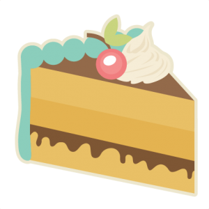 Piece Of Cake SVG cutting files for scrapbooking slice of cake svg cut file