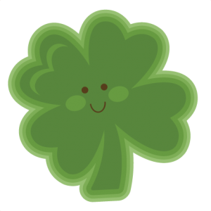 Cute Clover SVG cutting file for scrapbooking st. patricks day svg cut files