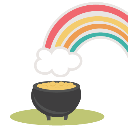 Rainbow With Pot Of Gold Svg Cutting File St Patricks Day Svg Cut
