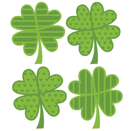 Assorted 4 Leaf Clovers SVG cut files flower scal files free scut