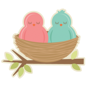Birds In Nest SVG cutting files for scrapbooking birds svg cut file spring svg cuts