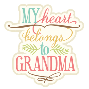 My Heart Belongs To Grandma SVG cutting file phrase svg cut files