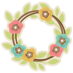 Spring Wreath SVG cutting file free svg cut files free svgs spring svg files for scrapbooks