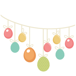 Easter Egg Banner SVG cutting files easter egg svg cut file easter eggs cut files for scrapbooks