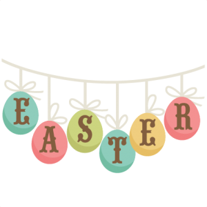 Easter Banner SVG cutting file easter svg scrapbook title easter svg cut file