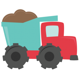Dump Truck SVG cutting files for scrapbooking dump truck svg cut file