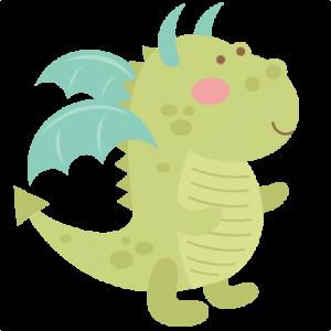 Dragon SVG cutting file cute dragon clipart dragon svg cut file for scrapbooking