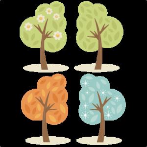 4 Season Trees SVG cutting files spring tree svg summer tree svg fall tree svg winter tree svg cut files
