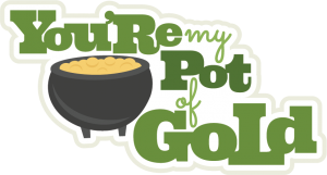 You're My Pot Of Gold SVG scrapbook title st patricks day svg scrapbook title