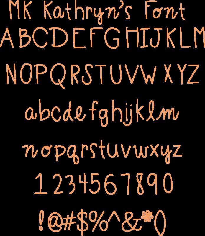Miss Kate Kathryn's Font free font