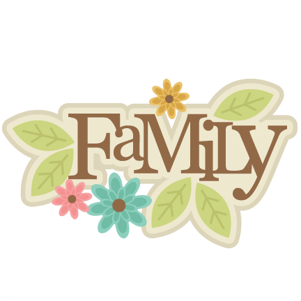 Family Title Svg Cut File Family Scrapbook Title Family Svg Cut File