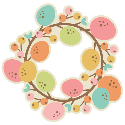 Easter Wreath SVG Cutting File Easter Svg Scrapbook Title Easter