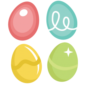 Easter Eggs SVG cutting file easter svg scrapbook title easter svg cut file
