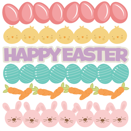 Easter Borders SVG Cutting Files Egg Svg Cut File Eggs For Scrapbooks