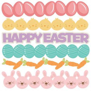 Easter Borders SVG cutting files easter egg svg cut file easter eggs cut files for scrapbooks
