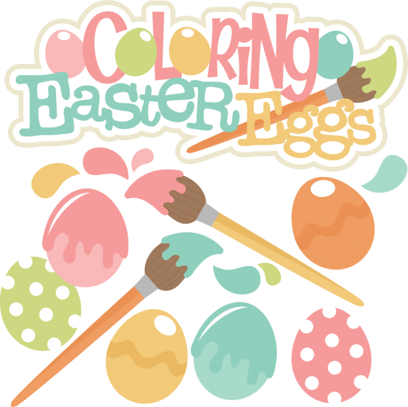 Coloring Easter Eggs Svg Cutting Files Easter Svg Cut