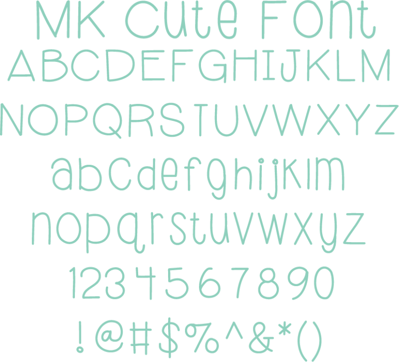 Miss Kate Cute Font