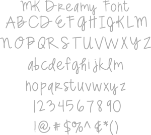 Miss Kate Dreamy Font
