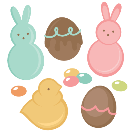 Easter Candy Set SVG Cutting Files Egg Svg Cut File Eggs For Scrapbooks