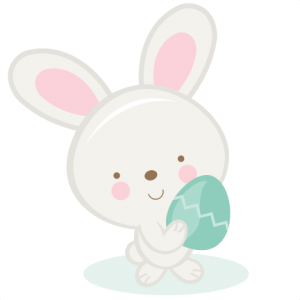 Bunny Holding Egg  SVG cutting files easter egg svg cut file easter eggs cut files for scrapbooks