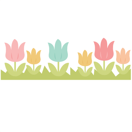 Tulip Border SVG cutting file easter svg cut file spring ...
