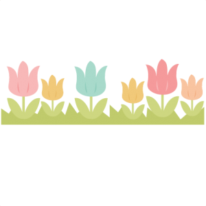 Tulip Border SVG cutting file easter svg cut file spring svg cut file for scrapbooking